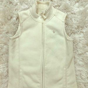Fleece lined girls white vest- NEW!